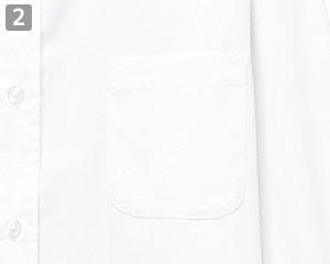 長袖レギュラーカラーシャツのポイント�左胸ポケット
