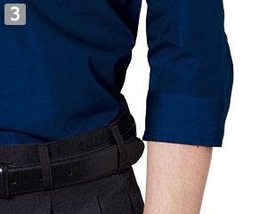 七分袖レギュラーカラーシャツのポイント�作業しやすい七分袖