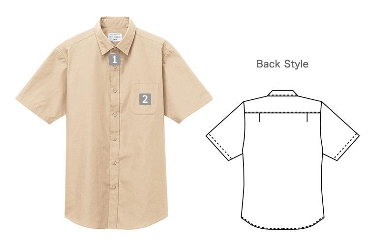 半袖レギュラーカラーシャツ(31-EP8356)の商品詳細