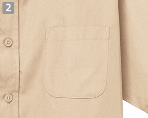 半袖レギュラーカラーシャツのポイント�左胸ポケット
