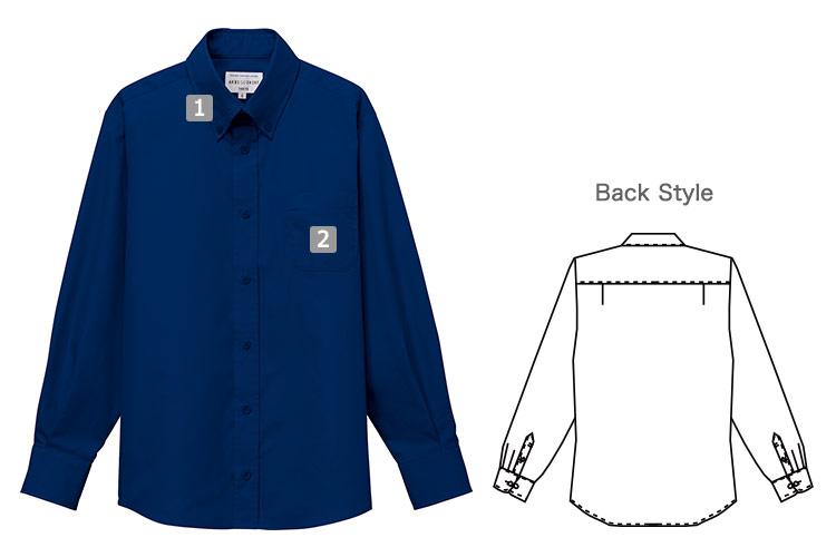 長袖ボタンダウンシャツ(31-EP8357)の商品詳細