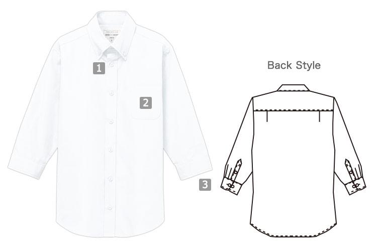 七分袖ボタンダウンシャツ(31-EP8358)の商品詳細