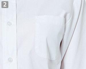 七分袖ボタンダウンシャツのポイント�左胸ポケット