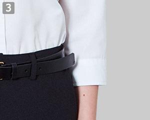 七分袖ボタンダウンシャツのポイント�作業しやすい七分袖