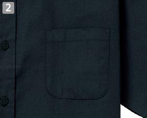 半袖ボタンダウンシャツのポイント�左胸ポケット