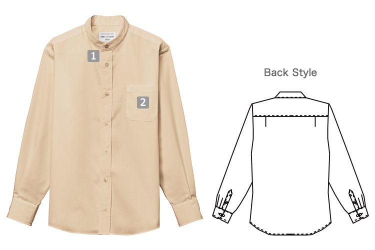 長袖スタンドカラーシャツ(31-EP8360)の商品詳細