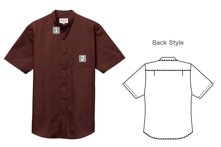 半袖スタンドカラーシャツ(31-EP8362)の商品詳細