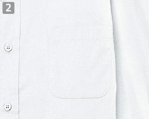 長袖ワイドカラーシャツのポイント�左胸ポケット