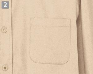 七分袖ワイドカラーシャツのポイント�左胸ポケット