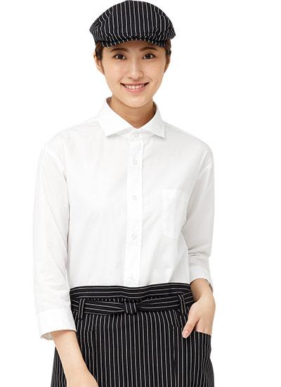チトセの七分袖ワイドカラーシャツ(31-EP8364)のポイント画像