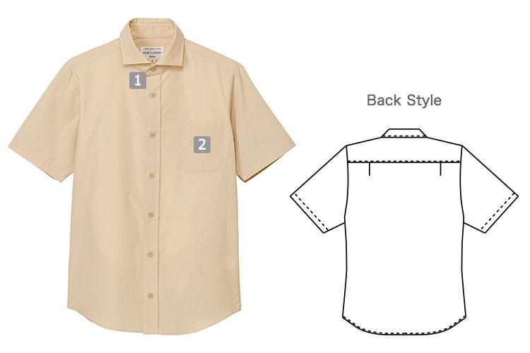半袖ワイドカラーシャツ(31-EP8365)の商品詳細