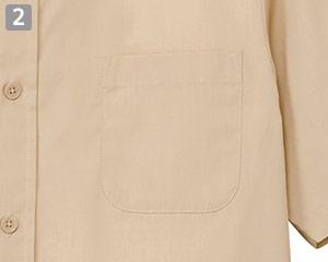 半袖ワイドカラーシャツのポイント�左胸ポケット
