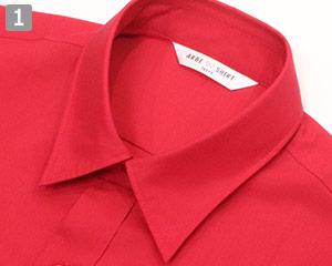 ストレッチカラーシャツ(31-EP8529)の商品詳細「小さめの襟」