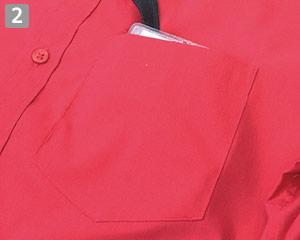 ストレッチカラーシャツ(31-EP8529)の商品詳細「左胸ポケット」