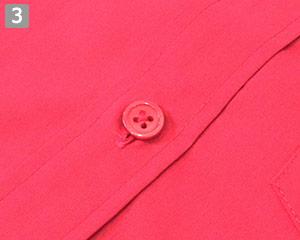 ストレッチカラーシャツ(31-EP8529)の商品詳細「身頃と同系色のボタン」