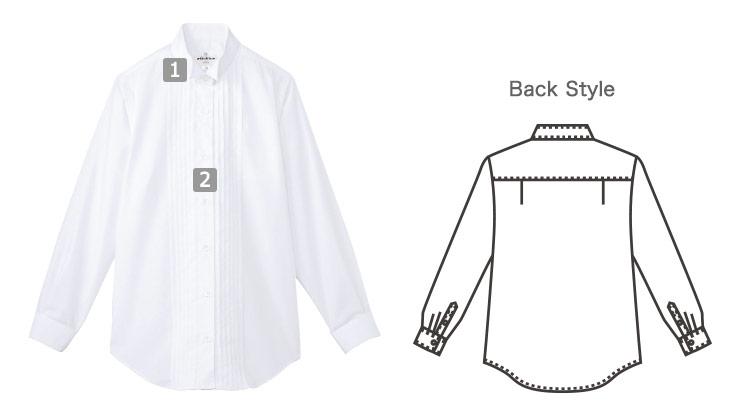 ピンタックウイングカラーシャツの商品詳細
