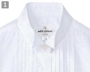 ピンタックウイングカラーシャツ�フォーマル感漂う襟元