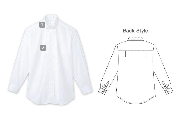 ピンタックウイングカラーシャツ(31-KM4092)の商品詳細