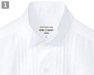 ピンタックウイングカラーシャツ(31-KM4092)の商品詳細「フォーマル感漂う襟元」