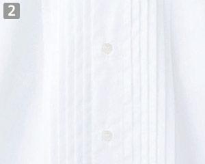 ピンタックウイングカラーシャツ(31-KM4092)の商品詳細「華やかな胸元」