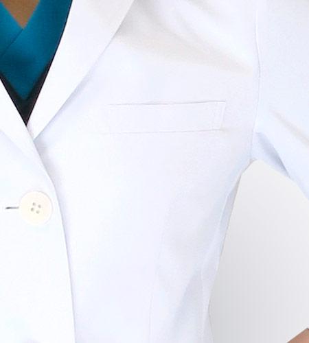 左胸ポケットのイメージ図
