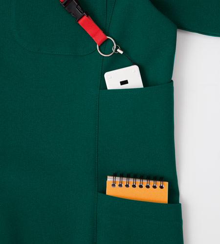 2段のサイドポケットのイメージ図