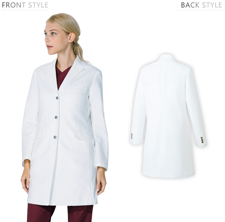 ドクターコートの正面スタイル、背面スタイル