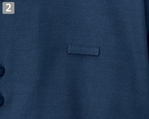 マオカラーシャツ(32-24307)の商品詳細「ネームループ」