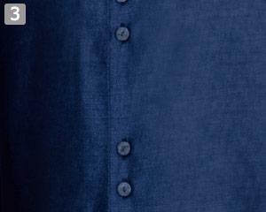 マオカラーシャツ(32-24307)の商品詳細「ボタン」