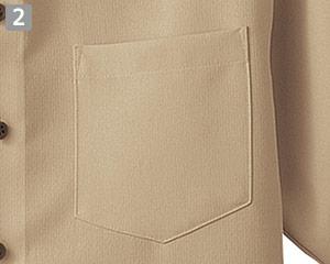 半袖ボタンダウンシャツのポイント�左胸ポケット付き