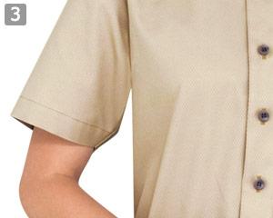 半袖ボタンダウンシャツのポイント�機能的な半袖仕様