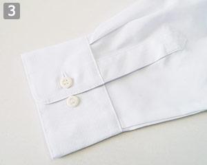 メンズシャツのポイント�2つボタンの袖口