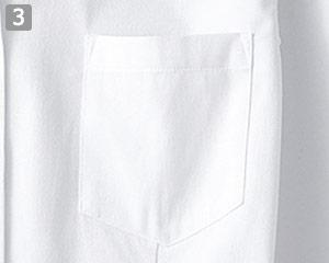 レディースベルカラーシャツのポイント�左胸ポケット付き