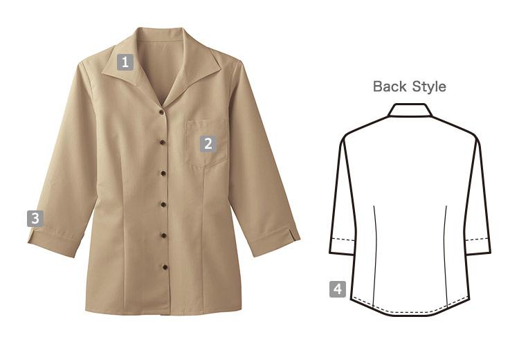 七分袖イタリアンカラーシャツ(32-34208)のおすすめポイント