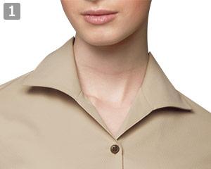 七分袖イタリアンカラーシャツのポイント�イタリアンカラー