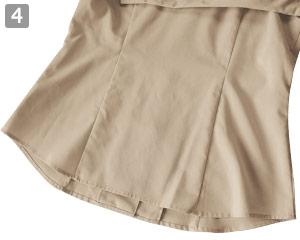七分袖イタリアンカラーシャツのポイント�動きやすい形状