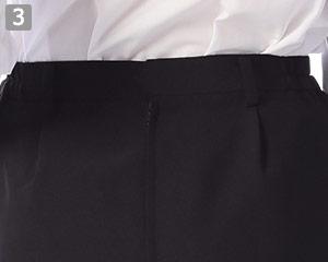 スカートのポイント�後ろチャック仕様