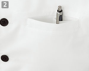 ショップコート/ボタンダウン(33-ET7727)の商品詳細「左胸片玉縁ポケット」