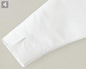 ショップコート/ボタンダウン(33-ET7727)の商品詳細「両袖スリット入り」