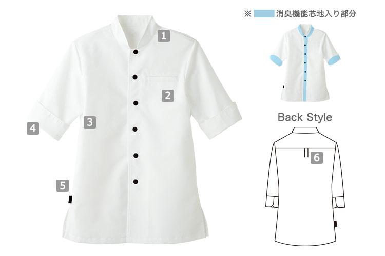 ショップコート/スタンドカラー(33-ET7730)の商品詳細