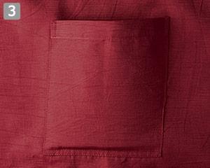 前掛のポイント�浮きポケット