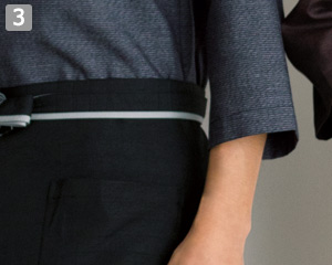 和風ショップコートのポイント�七分袖