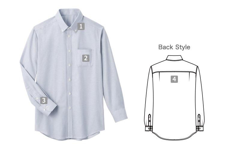 オックス・フォードシャツ(33-SBLU1809)の商品詳細