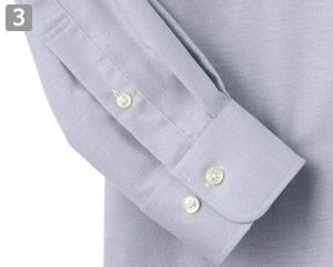 サイズ調節用の袖ボタン