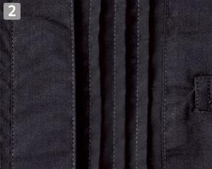 ピンタックスタンドカラー七分袖ブラウス(34-FB4001L)の商品詳細「ピンタック」