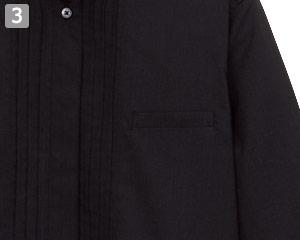 ピンタックスタンドカラー七分袖ブラウス(34-FB4001L)の商品詳細「左胸ポケット」