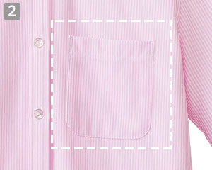 ニット吸汗速乾長袖ブラウス(34-FB4021L)の商品詳細「左胸アウトポケット付き」