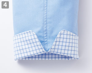 コックシャツ(34-FB4522U)の商品詳細「おしゃれな袖口」
