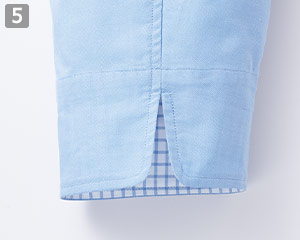 コックシャツ(34-FB4522U)の商品詳細「袖口のスリット」