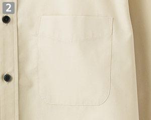ブロードレギュラーカラー七分袖シャツ(34-FB4528U)の商品詳細「アウトポケット」